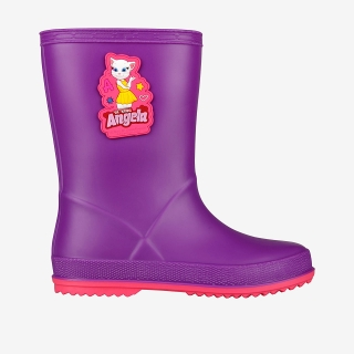 Dětské holínky Coqui RAINY Talking Tom and Friends Purple/Lt. fuchsia
